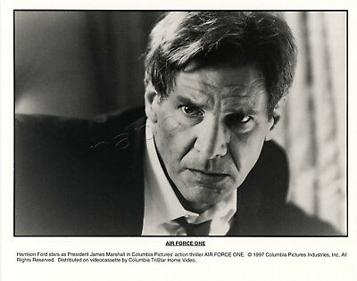 Air Force One Movie Stills 2 B&W Photographs Harrison Ford Gary Oldman