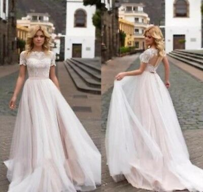2018 Long Sleeve Lace A Line Wedding Dress New Applique Train Tulle Bridal Gown