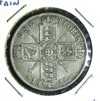 Great Britain - 1922 - Farthing, 3 Pence, 6 Pence and 1 Florin - 4 Great Coins!