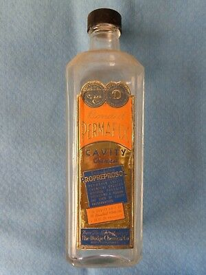"Vintage Dodge Chemical Company ""Bonded Permafix"" Glass Embalming Fluid Bottle"