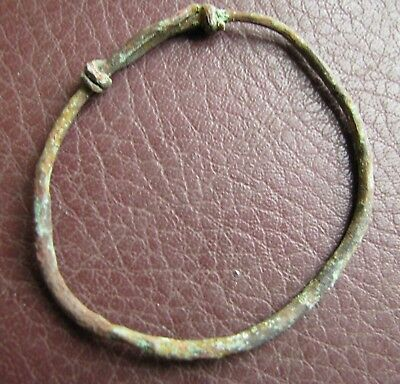 Authentic Ancient Lake Ladoga VIKING Artifact > Temporal Rings VV 12-B
