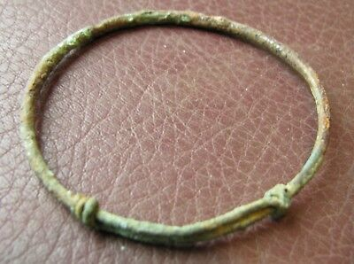 Authentic Ancient Lake Ladoga VIKING Artifact > Bronze Temporal Ring VV 12-C