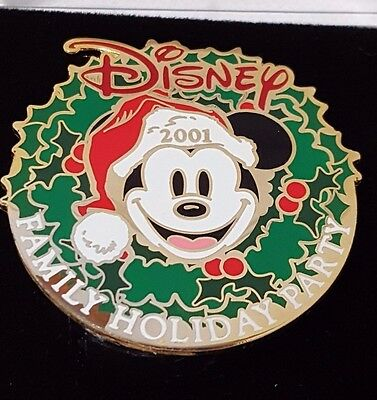 Disney Mickey Cast Exclusive Musical Pin Holiday Party 2001