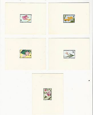 Cameroon: 5 proof, Scott 546-547-551-553 flowers thematic .CM06