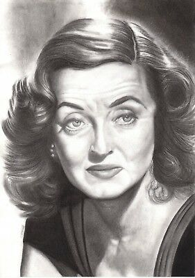 BETTE DAVIS. Pencil On Paper