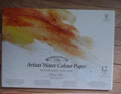 Winsor And Newton A3 Artist Watercolour Paper Pad.300Gsm Not,