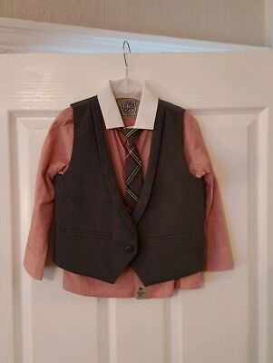 Boys Aged 2To 3 Waistcoat, Shirt And TIE. NEVER WORN.NEXT.