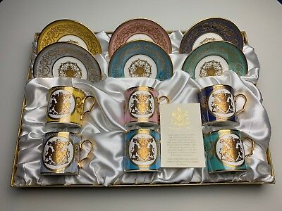 Buckingham Palace Special Edition 22 Carat Gold Espresso Cups Set Of Six
