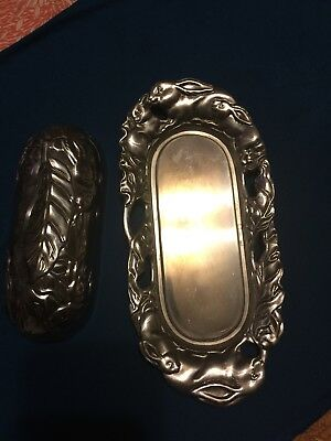Silver Plated Butter Holder W/ Lid By Arthur Court