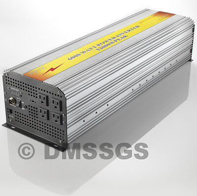 Brand New Advanced Power Inverter 6000/12000W Watt 12V Dc To 120V Ac!