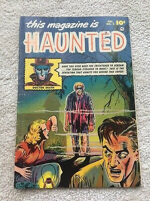 THIS MAGAZINE IS HAUNTED #2 - FAWCETT COMICS PRE CODE GOLDEN AGE 10c 1952 - VG+