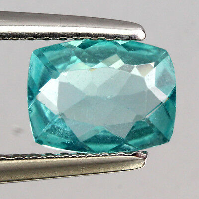 Sparkle Gem! 1.19 Ct. Antique Cut 100%natural Aaa Neon Blue Apatite Africa