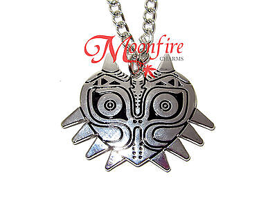 The Legend Of Zelda Majora's Mask Silver Pendant Necklace Silver-Plated Detailed