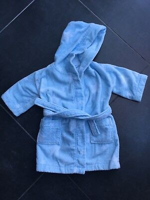 Baby Boys Little White Company Towelling Dressing Gown Age 18-24 🌟