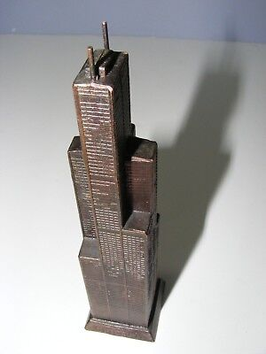 Vtg. Sears/Willis Tower souvenir metal building architecture model paperweight