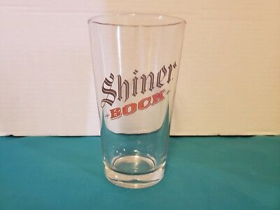 Shiner Bock Beer Restaurant/Sports Bar Style Pint Beer Glass