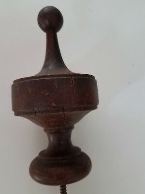 Antique walnut finial   (#73)