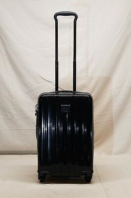 New Tumi V3 Black 4 Wheel Spinner Int'l Expandable Carry On Style 228260