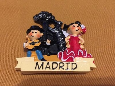 Spain, Madrid,The Bear and the Strawberry Tree, Flamenco 3D Resin Fridge Magnet