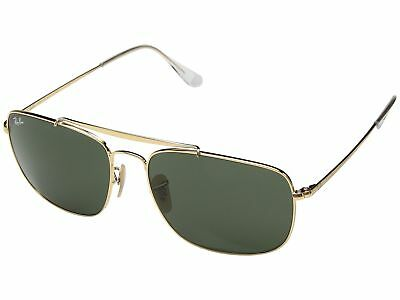 Ray Ban 3560 The Colonel Gold w Green Crystal (G-15) Lens RB3560-001 61
