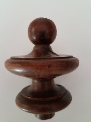 Antique walnut finial   (#50)