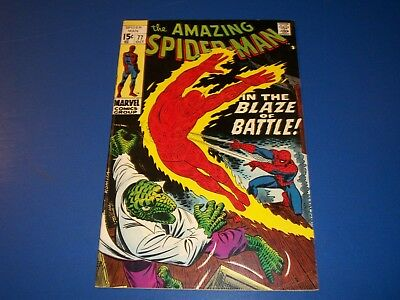 Amazing Spider-man #77 Silver Age VF- Beauty Wow Human Torch Lizard