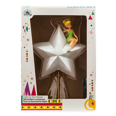 Disney Store Christmas Tree Topper Light Up Tinkerbell Tinker Bell