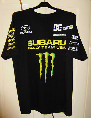 nice shoes e4786 137f7 Dc Shoes Subaru Rally Team Monster Energy T-Shirt Dave Mirra Rare Ken Block  Reca