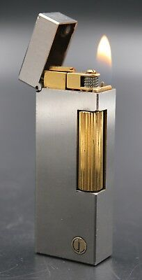 DUNHILL Silver Plated Gold Accents Rollagas Lighter