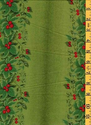 Cotton Quilt Sew Holiday Fabric SSI 1850's Legacies & Beyond Holly & Berries