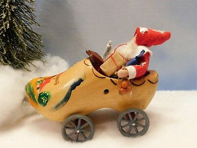 VINTAGE WOODEN SHOE~WHEEL-TOY~ST. NICHOLAS DRIVING: By: Jean T Littlejohn