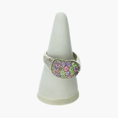 goodbyebabylon / sterling silver peridot amethyst (missing stone) / ring 8 (g)