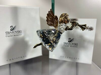 Swarovski Crystal 1997 Annual Edition Angel Christmas Ornament 211 085 MIB W/COA