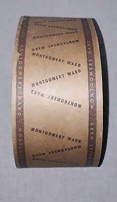 Vintage Montgomery Ward Department Store Shipping Box Tape Large Roll
