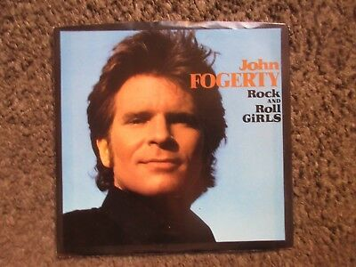 "John Fogerty ""rock And Roll Girls"" 1984 W.b. Promo 7"" W/ps Nm/nm Oop 45"