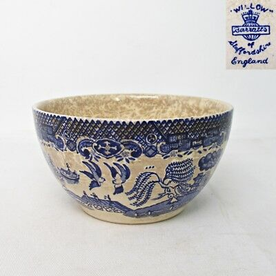 A574: European bowl of old blue-and-white porcelain with appropriate pattern
