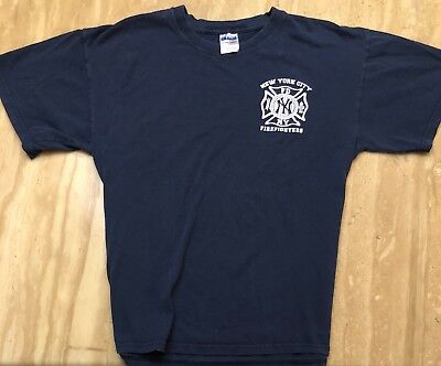 FDNY New York Fire Fighters NY Yankees VINTAGE Rescue Shirt