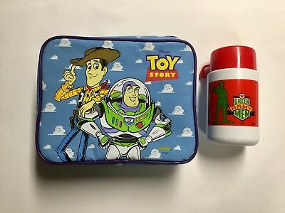 Disney's Toy Story Thermos Lunch Bag Lunch Box Army Man Thermos, Woody & Buzz