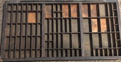 PRINTERS Full Size Wood Antique TYPE CASE Or DRAWER