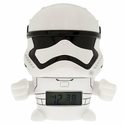 """BulbBotz Star Wars Stormtrooper Kids Light up Alarm Clock"" NEW"