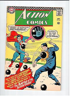 DC ACTION COMICS #341 Superman 1966 VG/FN Vintage Comic
