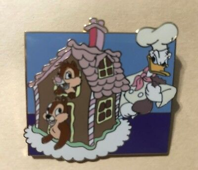 Disney Pin Disney Auctions (P.I.N.S.) Gingerbread House Donald Chip Dale LE 1000