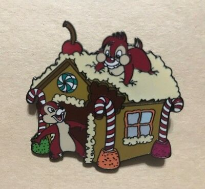 Disney Pin Disney Auctions (P.I.N.S.) Chip & Dale Gingerbread House LE 1000