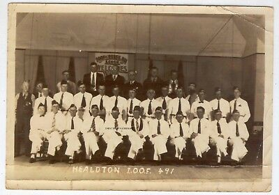 Healdton Oklahoma IOOF Odd Fellows Rebekah Lodge OLD Photograph