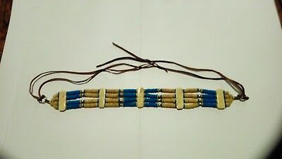 Native American Style bone and turquoise colored bead choker