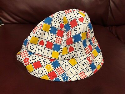 Infant Girls Vintage 1970's Multi-Colored Sun Hat Size Small