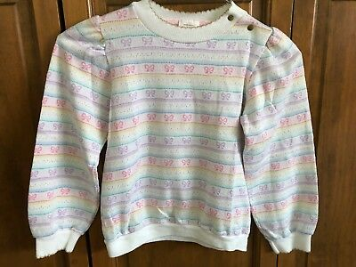 Health-tex Vintage Early 1980's Size 6x Girls Top With Bows
