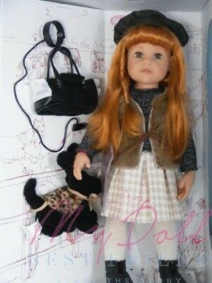 Gotz HANNAH AND HER DOG PLAY DOLL& DOG- 50cm/19.8in. tall- stands alone-NRFB