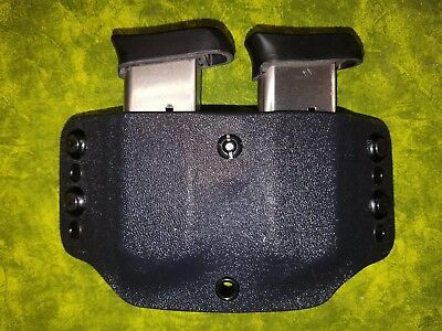 Look! Super Nice Left Regular Black Kydex Double Mag Holster Truly Hand Fitted