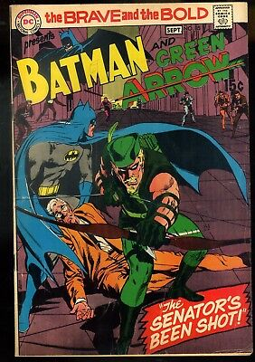 Brave and the Bold #85 VG/F   New Green Arrow Costume Neal Adams Cover